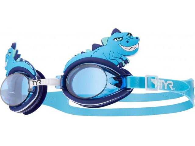 TYR Charactyrs Dino Destroyer - Lunettes de natation Enfant - bleu